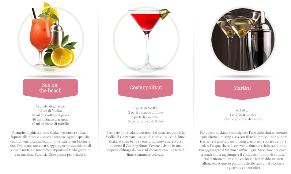 ricette cocktail donne