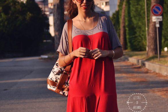 vestito fluido handmade