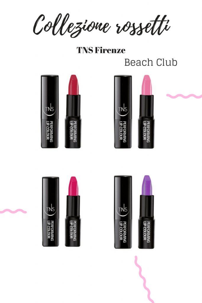 Collezione rossetti TNS Firenze Beach club
